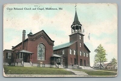 Christ Church & Chapel MIDDLETOWN MD Antique—Frederick County Maryland 1913
