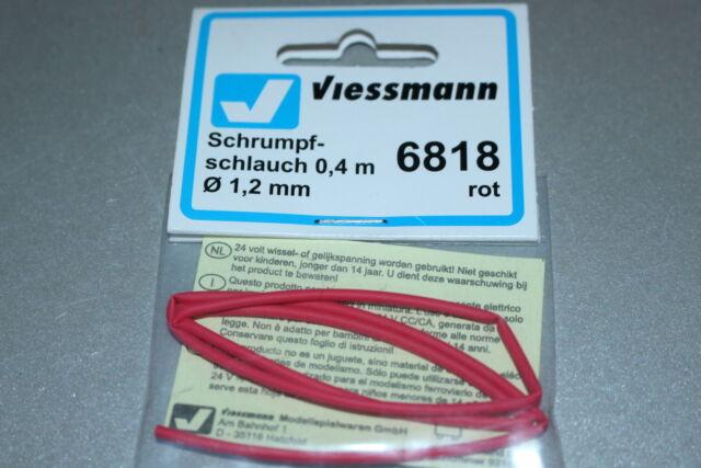 Viessmann 6818 Schrumpfschlauch 0,4m Durchmesser 1,2mm rot Spur H0 OVP