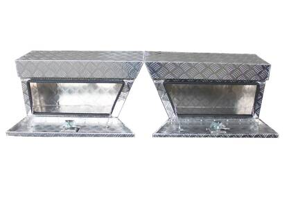 UNDER TRAY STORAGE BOXES 2MM CHECKER PLATE NEW PAIR Willow Vale Gold Coast North Preview
