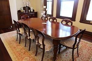 Solid timber dining set and side cabinet matching set Killara Ku-ring-gai Area Preview