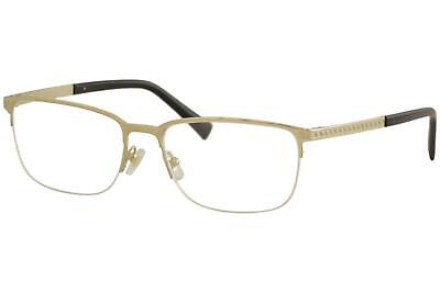 Versace Men's Eyeglasses VE1263 VE/1263 1002 Gold Half Rim Optical Frame 53mm