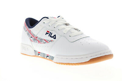 Original Fitness Sneaker - Fila Original Fitness Haze Mens White Leather Low Top Sneakers Shoes