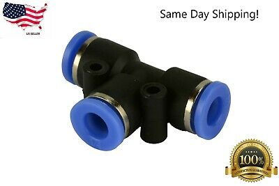 1 Piece Pneumatic Air Quick Push To Connect Fitting 14 Od T Tee Tube 6mm