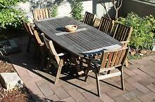 Hardwood outdoor setting, table and 8x chairs Armidale 2350 Armidale City Preview