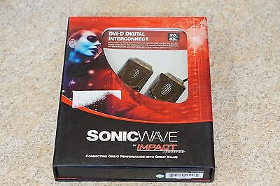 DVI-D Digital Interconnect SonicWave Impact Acoustics 24k Video Cable 65 Ft