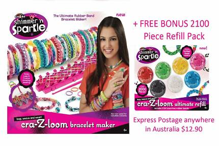 BNIB Cra-z-loom Bracelet Maker + BONUS 2100 Piece Refill pack Helena Valley Mundaring Area Preview