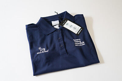 New Womens Craft Team Novo Nordisk In The Zone Pique Polo Shirt  Navy  Size 38