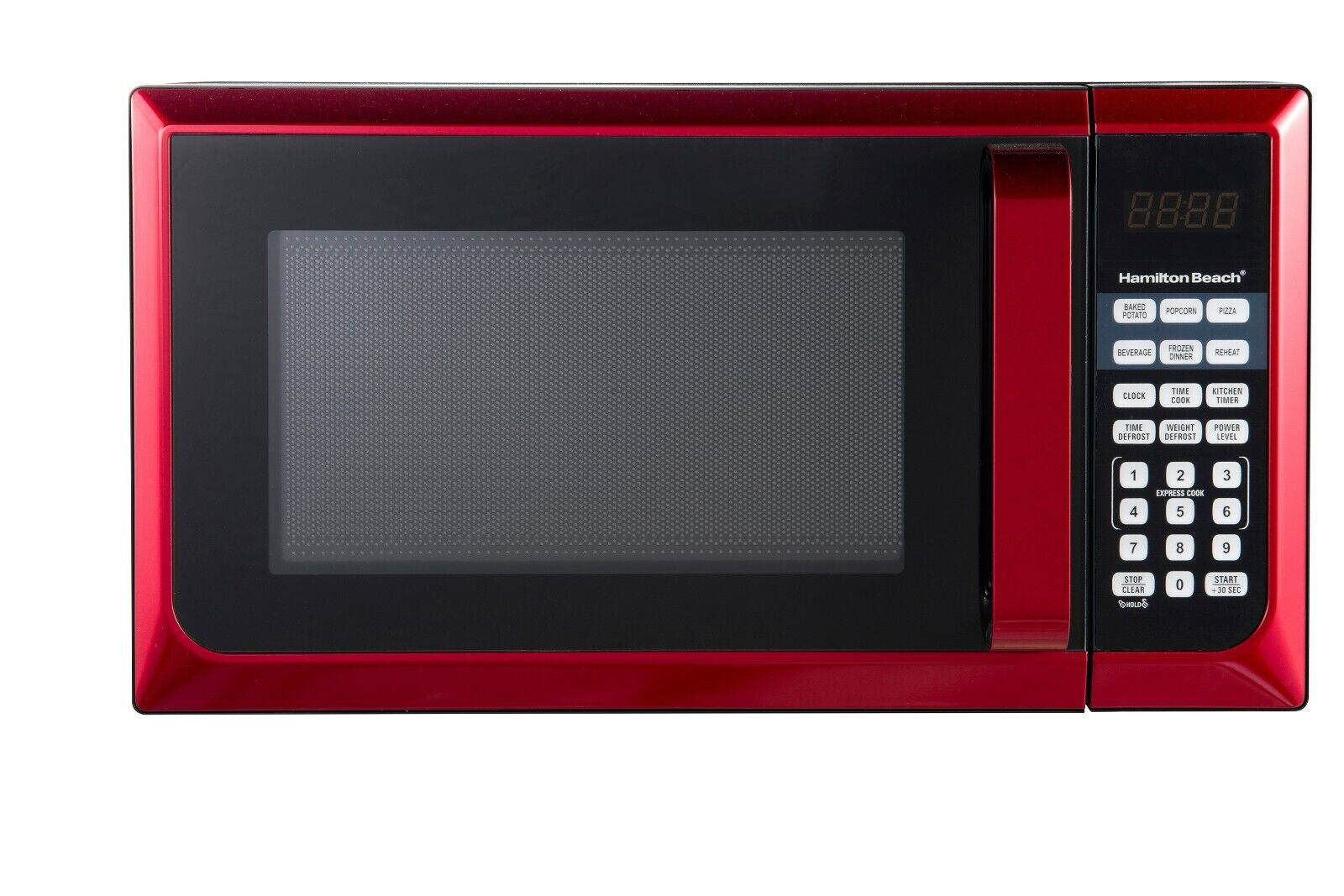 Countertop Microwave Stainless Steel Home Office LED Oven 900W 0.9 Cu Ft. RED - $78.98