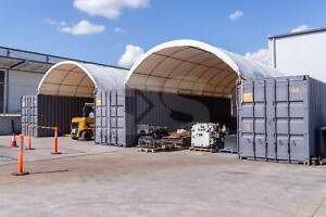 A 40x20ft Dome Shelter in between Containers - FREE SHIPPING!