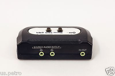 3.5mm STEREO 2 Port Manual Sharing Switch selector way 2:1 Stereo Splitter
