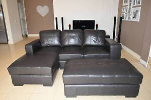 Modular sofa couch 3 seater with chaise & ottoman