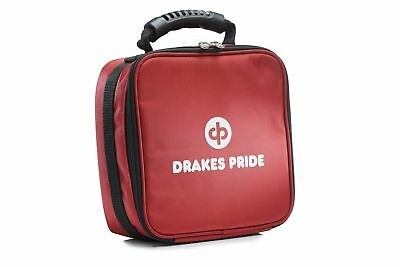 Drakes Pride - Quad Bowls Bag Red, Holds 4 Carpet Bowls or 4 Crown Green Jacks