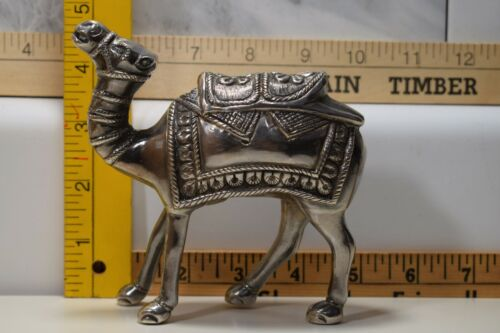 Vintage Solid (hollow) Sterling Silver Camel Statue Figure (155 Grams)