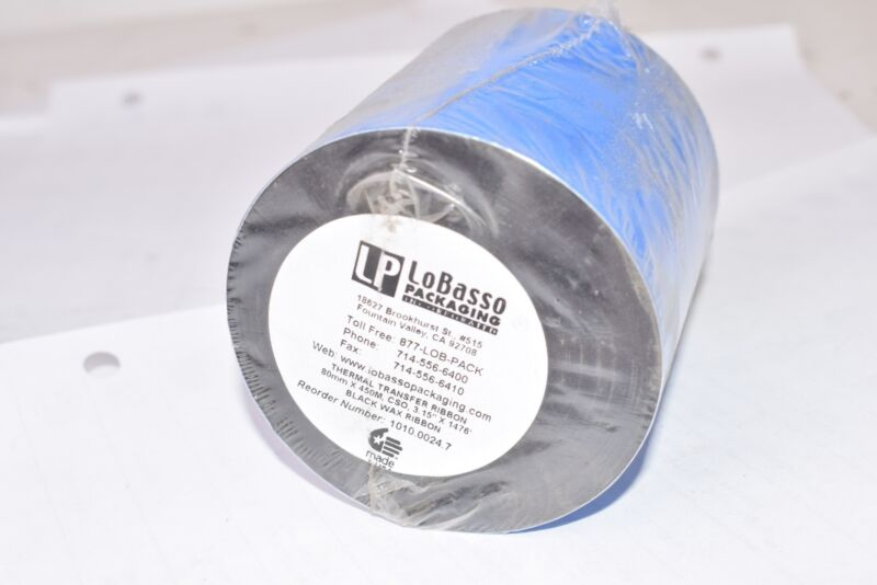NEW LoBasso Packaging Thermal Transfer Ribbon, 50mm x 450M