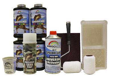 T-Rex Desert Sand Roll On urethane Truck Bed Liner, 4 quart kit SMR-1000ROLDS-K4 ()
