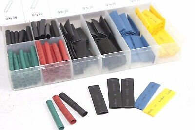 160 Pcs Heat Shrink Wire Wrap Assortment Set Tubing Electrical Connection Cable