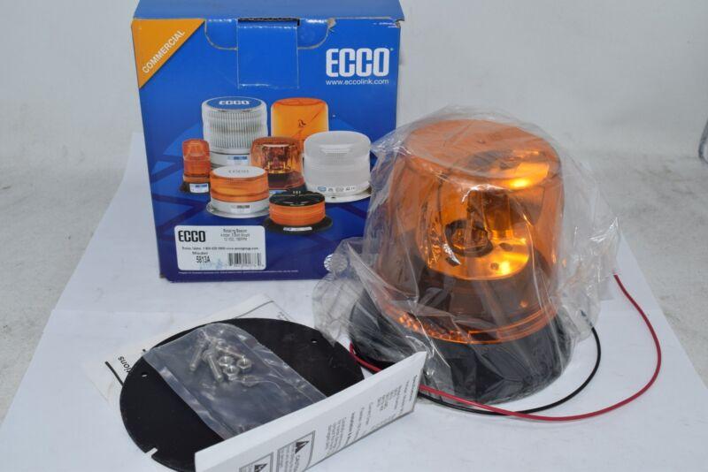 NEW ECCO 3-BOLT MOUNT AMBER ROTATING BEACON 5813A 12VDC 160FPM