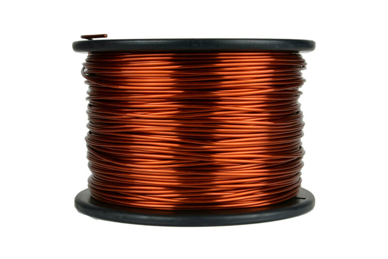 TEMCo Magnet Wire 12 AWG Gauge Enameled Copper 10lb 500ft 200C Coil Winding