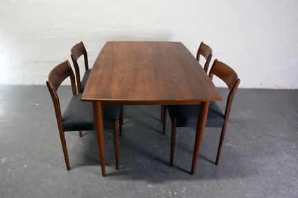 Mid Century Teak dining set by Fler