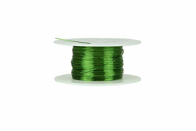 Temco Magnet Wire 26 Awg Gauge Enameled Copper 155c 4oz 314ft Coil Green