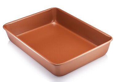 "Gotham Steel Bakeware - Nonstick Copper XL 9"" x 13"" Cooking & Baking Pan - New!"
