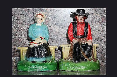 Amish Mann und Frau Gusseisen Bücherstützen 588ms