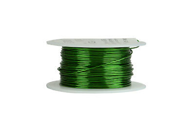 Temco Magnet Wire 20 Awg Gauge Enameled Copper 155c 8oz 157ft Coil Green