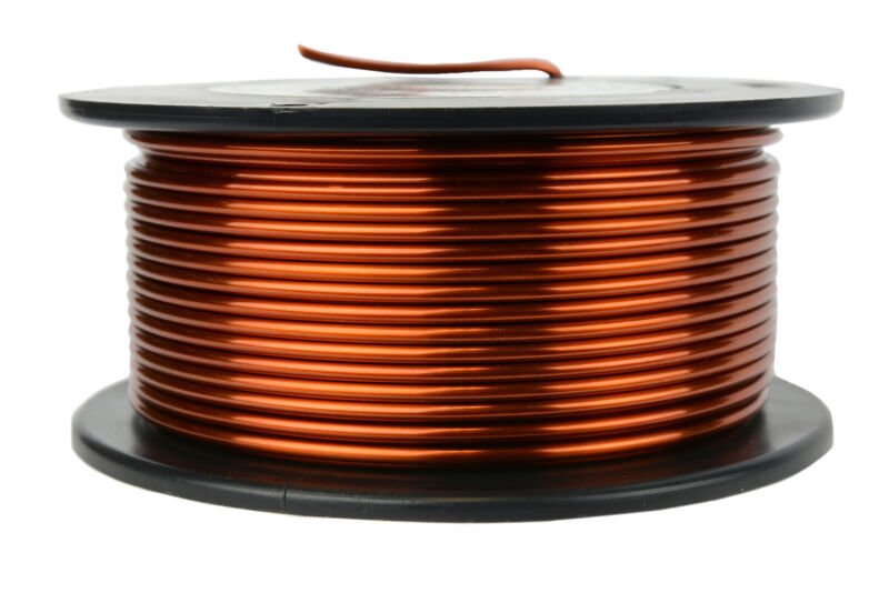 TEMCo Magnet Wire 12 AWG Gauge Enameled Copper 1lb 50ft 200C Coil Winding
