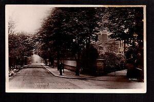 Eccles - Victoria Road - real photographic postcard