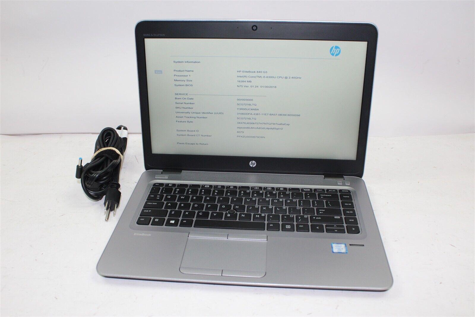 HP EliteBook 840 G3 14 FHD i5-6300U 2 4GHz 8-16GB RAM 0