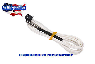 Ntc 3950 1 100k Ohm Thermistor 1 Meter Wires 3d Printer Reprap Hotend Pt100