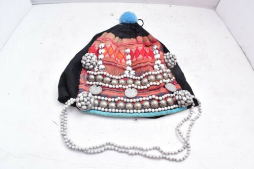 Vintage Thai Akha Hill Tribe Headdress Women