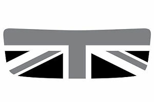 Mini Cooper S R56 Hood Scoop Graphic - Union Jack Black/Grey/White