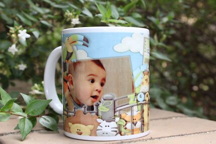 Personalised mugs, puzzles, mouse pad and mobile case.