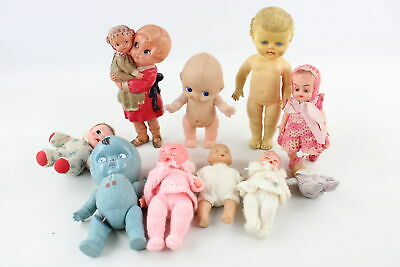 9 x Vintage Dolls / Toys inc. Pedigree, Vinyl, Celluloid, Sleepy Eyes, Baby