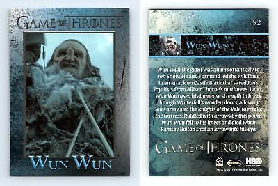 Wun Wun #92 Game Of Thrones Season 6 Rittenhouse 2017 Trading Card