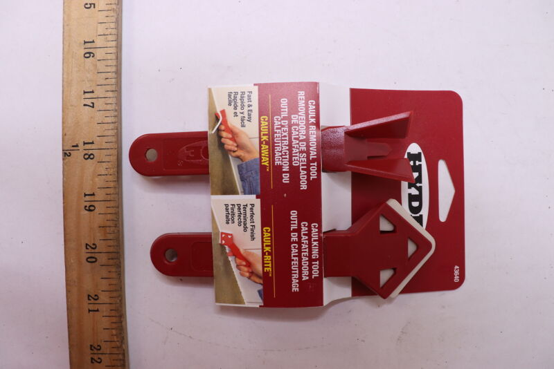 Hyde Caulk Remover and Finisher Tool Plastic 43640