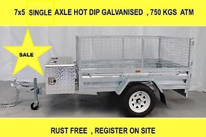 7x5 SINGAL AXLE HOT DIP GALVANISED TRAILER Dandenong South Greater Dandenong Preview
