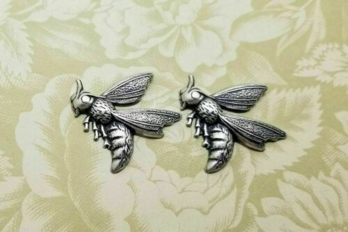 Brass Wasp Hornet Bee Stampings x 2 - 115RAT