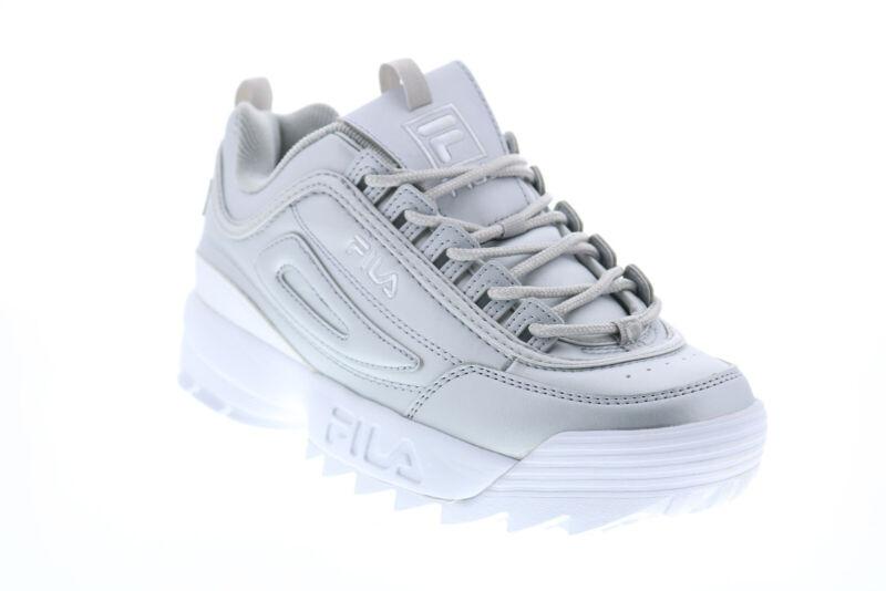 Fila Disruptor II Premium Metallic Womens Silver Lifestyle Sneakers Shoes