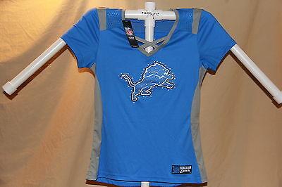 Detroit Lions  NFL Fan Fashion JERSEY/Shirt  by MAJESTIC  Womens Large  NWT $55