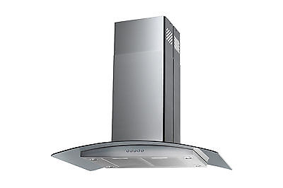 """30"""" Stainless Steel Island Range Hood High End Modern Home Kitchen Stove Exhaust"""