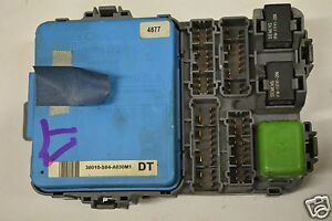 honda accord fuse box location 98-02 honda accord i4 right multiplex front fuse box relay ... 98 honda accord fuse box #10