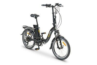 Folding Electric Bike eBike EcoBike Suspension Lighting Pannier Step through