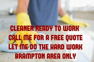 cleaner looking for more houses