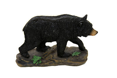 Black Bear Poly-Resin Statue Figurine Home Decor
