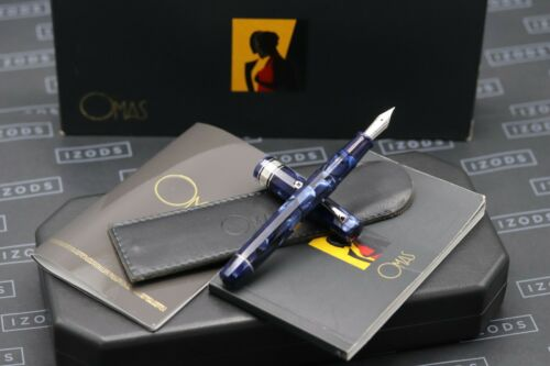 Omas Paragon Royal Blue Celluloid HT 2002 Fountain Pen