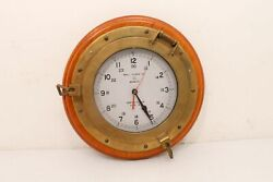 Vintage Bell Clock Co.Nautical Quartz Ship Wall Clock