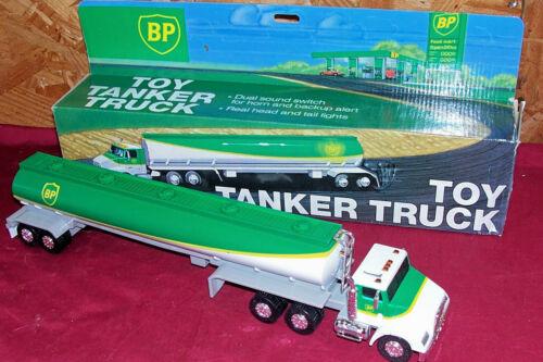 Vintage British Petroleum Oil Toy Gas Tanker Semi Truck Old Model Advertising BP