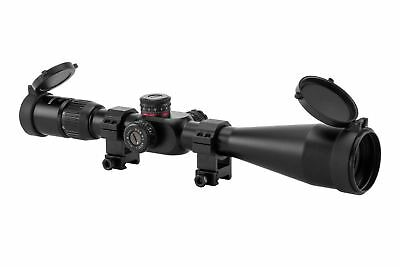 6 24X50 First Focal Plane Rifle Scope  Illuminated Reticle Adjustable Objective